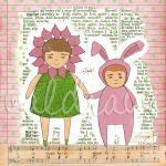 Children's art print Sister..